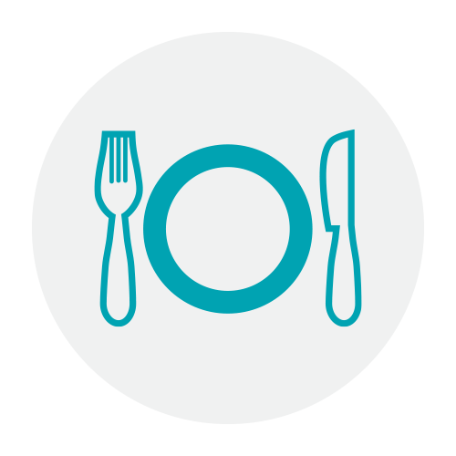 plate and silverware icon